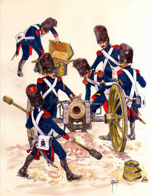 Artillerie a pied de la garde
